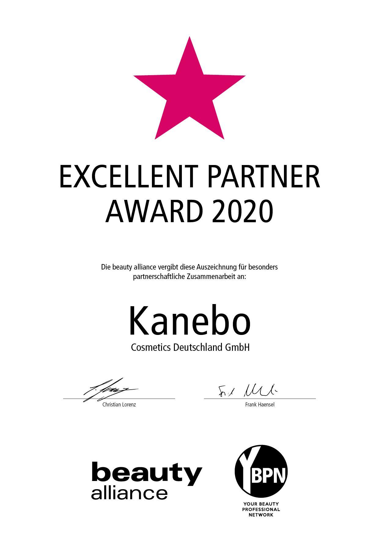 Urkunde_Excellent_Kanebo_2020