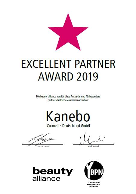 Excellent Partner Award 2019_Kanebo