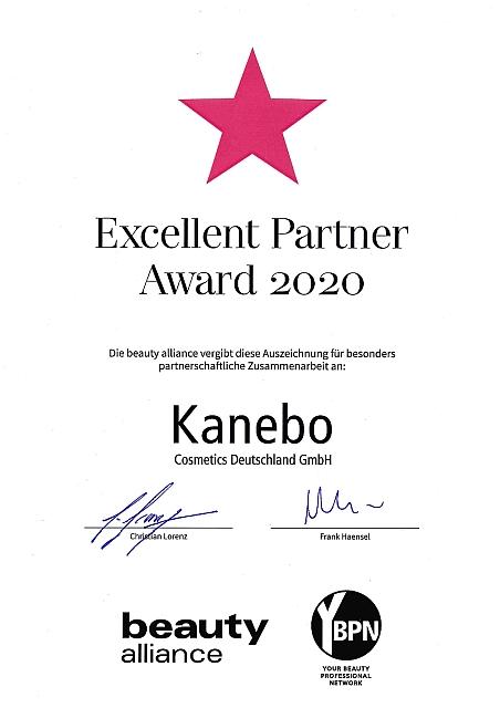 Excellent Partner Award 2020 Kanebo