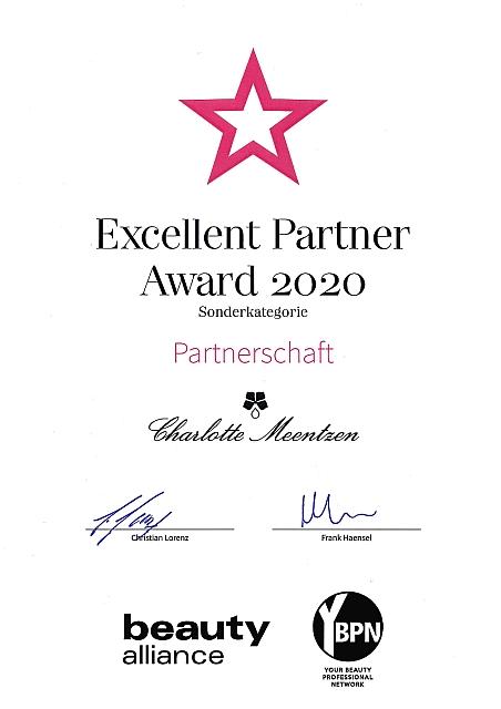 Excellent Partner Award 2020 Sonderk. Ch. Meentzen